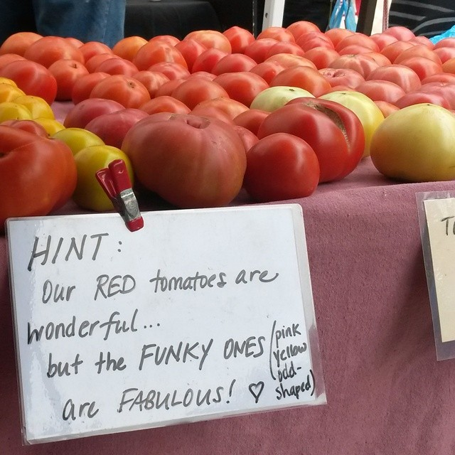 funky tomato sign