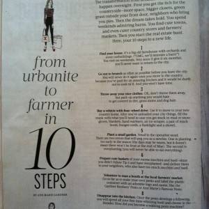 urbanite to farmer