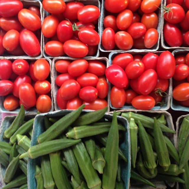 paste tomatoes okra