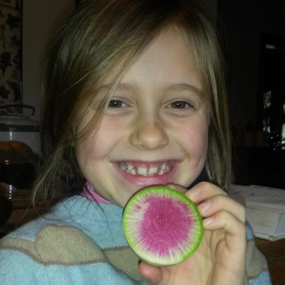 sylvie watermelon radish