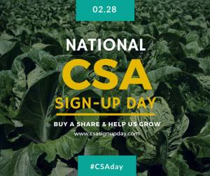 CSA sign up day