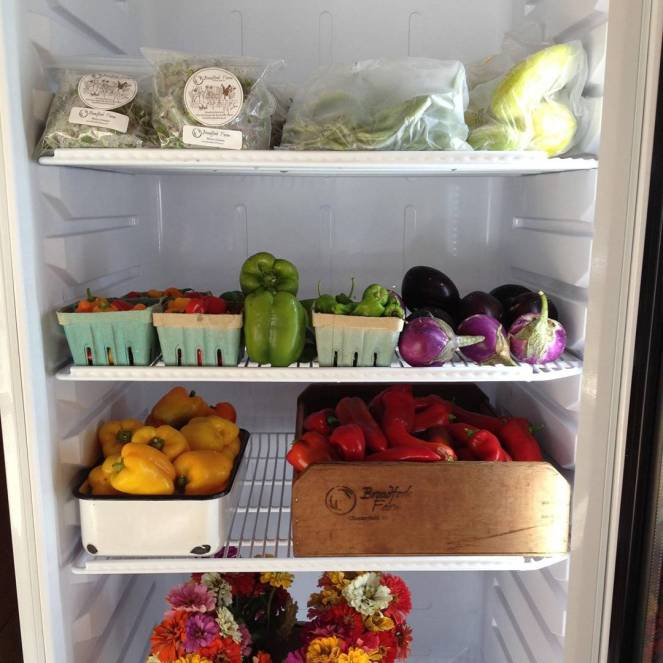 farm stand fridge case