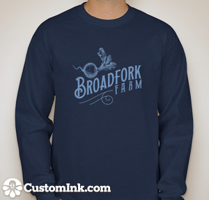 long sleeve navy tshirt